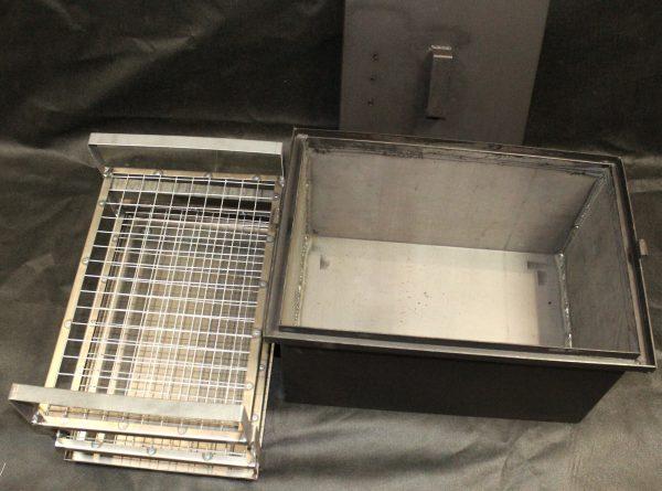 Коптильня с гидрозатвором 2 яруса 500х350х250мм
