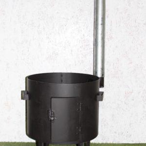 Печь для казана 360 мм с трубой