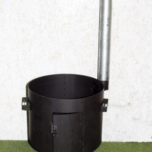 Печь для казана 430 мм с трубой
