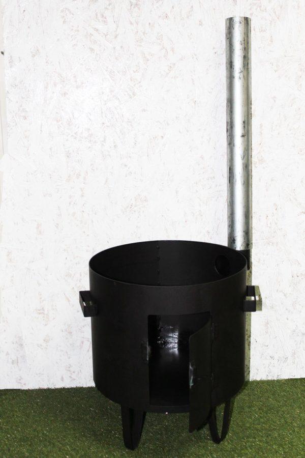 Печь для казана 500 мм с трубой