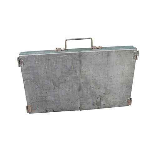 Мангал на съемных ножках складной-чемодан стенка 2мм не крашеный